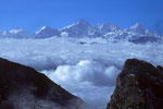 Himalchuli 7893m, Harka Gurung Peak  7871m Manaslu 8163m - Tele -