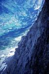 Tiefblick auf Grindelwald 1034 m; Höhenunterschied 2935 m !!