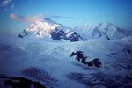 Monte Rosa 4634 m und Liskamm 4527 m