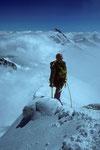 Mönch 4107 m Ankunft am Gipfel