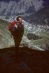 Aufstieg zur Mischabelhütte oberhalb Saas Fee