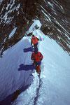 Abstiegsfirngrat zum Nadeljoch 4213 m