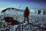 Mein Guide Christian  auf dem  Uhuru Peak  5895m