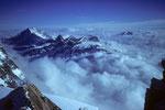 4554m-Aussicht auf die Viertausender im Norden