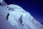 Seracs mit  Dome de Neige 4015 m