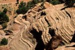 Fels-Strukturen im De-Chelly-Sandstein