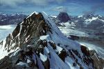 Blick zum Breithorn Mittelgipfel 4160m und dahinter das Matterhorn 4478m