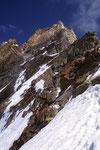 Rückblick beim Abstieg vom Zinalrothorn 4221 m.