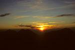 Sonnenaufgang zwischen Lagginhorn 4010 m und Weissmies 4023 m