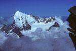 Weisshorn 4505 m von der Lenzspitze 4294 m