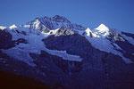 Jungfrau 4158 m mit Silberhorn 3695 m
