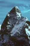 Abschieds-Teleaufnahme vom Matterhorn mit 4478 m.