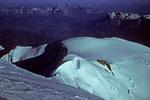 Blick auf den Bossesgrat  mit Vallothütte 4362 m