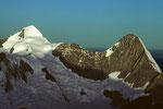 Mönch 4107 m und Eiger 3970 m