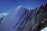 Lenzwand mit Lenzspitze 4294 m und Grat zum Nadelhorn 4327 m
