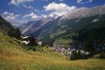 Zermatt 1608 m vom Weg zur Rothornhütte.