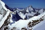 Blick vom Bishorn mit Dent Blanche 4356m,