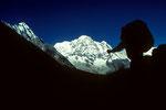 Wir erreichen das Annapurna Heiligtum mit Annapurna I - Südwand -