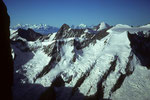 Gr. Grünhorn 4043 m und Aletschhorn 4195 m und Walliser 4000er in der Ferne