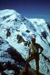 Mont Blanc 4807 m und Dome du Gouter  4304 m vom Cosmiques - Grat