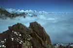 Blick nach Osten zu den 8000ern der Everest Region