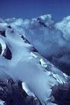Dom Festigrat mit Matterhorn 4478 m in den Wolken