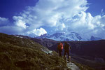 Wanderung zum Berghütte  Fluhalp 2616 m mit Breithorn 4165 m
