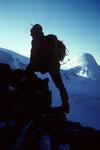 Am WSW-Grat mit Adlerhorn 3987 m
