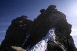 Gipfelaufbau vom Zinalrothorn 4221 m mit der Kanzel.