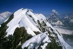 Breithorn Mittelgipfel 4160m und  das Matterhorn 4478m
