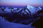 Weisshorn 4505 m im Morgengrauen
