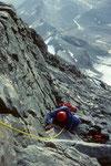 Aufstieg  zur Solvayhütte 4003m