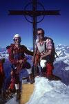 Konrad , mein Bergfreund und Seilkamerad mit mir.