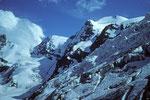 Berge eisgepanzert