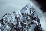 Nuptse 7879 m - Gipfelfoto mit Tele -