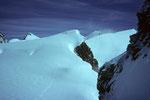Blick zurück zur Ludwigshöhe 4341 m und bis zur Signalkuppe 4554 m