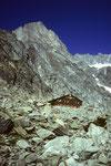 Schreckhornhütte 2530 m des SAC Sektion Basel