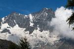 Täschhorn 4491 m und  Dom 4545 m von Almagelleralp 2194 m
