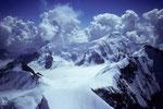 Aletschhorn 4195 m mit Rottalhorn 3969 m im Vordergrund