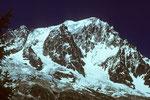 Grandes Jorasses Südwand vom ital. Val Ferret aus - Tele -