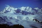 Monte Rosa 4634 m und Liskamm 4527 m und Castor 4226 m