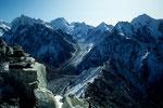 Vom Yala Peak - Langshisa Ri 6413m, Dorje Lhakpa 6973m, Gangchempo 6387m