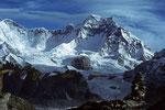 Gyachung Kang 7952 m höchster 7000er der Erde vom Gokyo Ri 5357 m