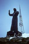 Christusstatue auf dem Balmenhorn 4167 m Höhe: 3,60 m Gewicht: 980 kg