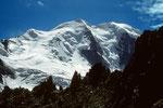 Piz Palü Ostgipfel 3882 m und Mittelgipfel 3905 m