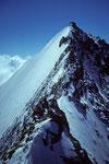 Rückblick zur Lenzspitze 4294 m vom Nadeljoch 4213 m