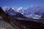 Makalu 8485 m und Baruntse 7152 m