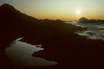 Seewasser und Wolken in uterschiedlichen Aggregatzuständen auf 4380 m
