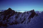 Nadelhorn 4327 m und Lenzspitze 4294 m vom Dom