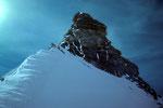 Gipfelaufbau Dent d´Herens 4171 m.